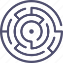 labyrinth, map, maze, puzzle icon