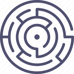 labyrinth, map, maze icon