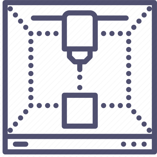 factory, mechanics, printer, production icon