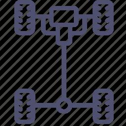 auto, car, chassis, mechanics icon