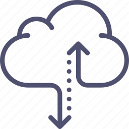 cloud, data, hosting, internet, storage, traffic icon