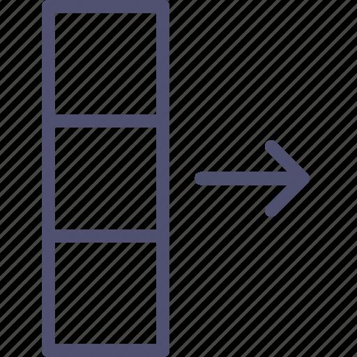 column, data, database, export icon