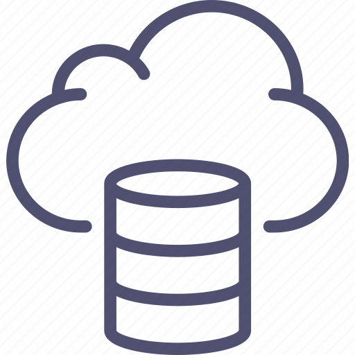 backup, cloud, database, hosting, storage icon