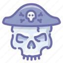 pirate, roger, skull icon