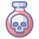 poison, potion, skull icon
