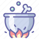 cauldron, halloween, pot, witch icon