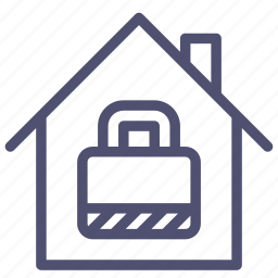 house, locked, protection, secure, security icon