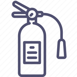 extinguisher, fire, security icon