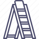 ladder, stepladder, tools icon