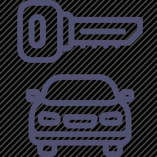 Car, locked, secure, key, transport icon