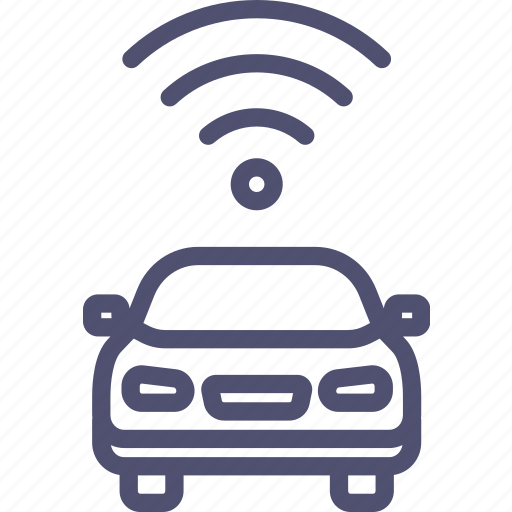 Car, signal, transport, wifi icon - Download on Iconfinder