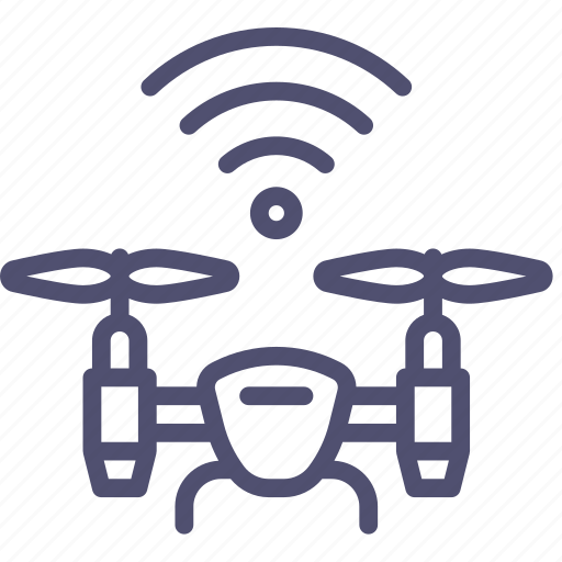 airdrone, copter, drone, flying, quadcopter, signal, wifi icon
