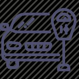 car, machine, meter, parking, transport icon