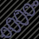 bbq, kebab, souvlaki icon