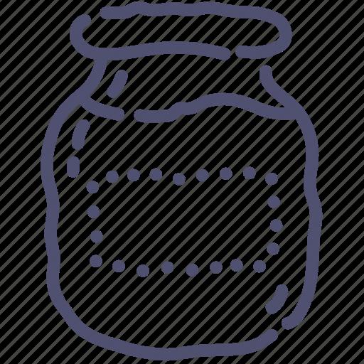 glass, jar, kitchen icon