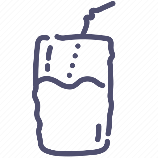 cocktail, drink, straw icon
