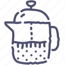 coffee, french, teapot icon