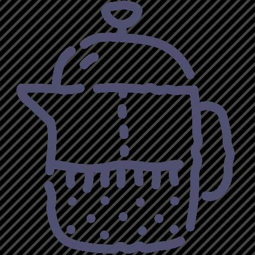 coffee, french, teapot icon