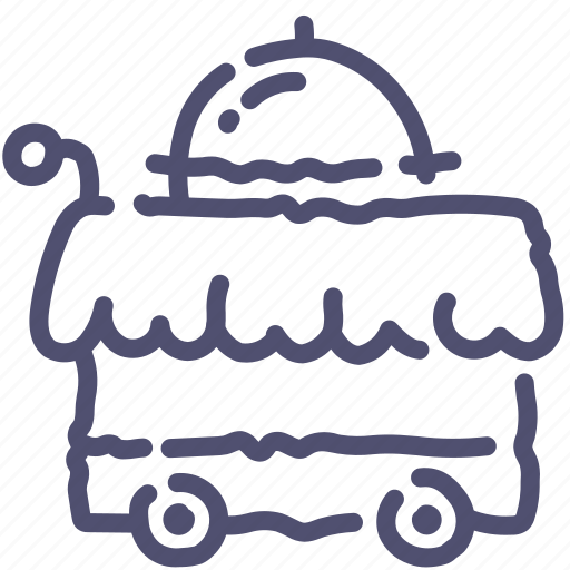 cart, food, service icon