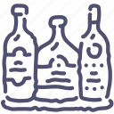 alchohol, bar, bottles icon