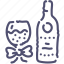 bottle, glass, party icon