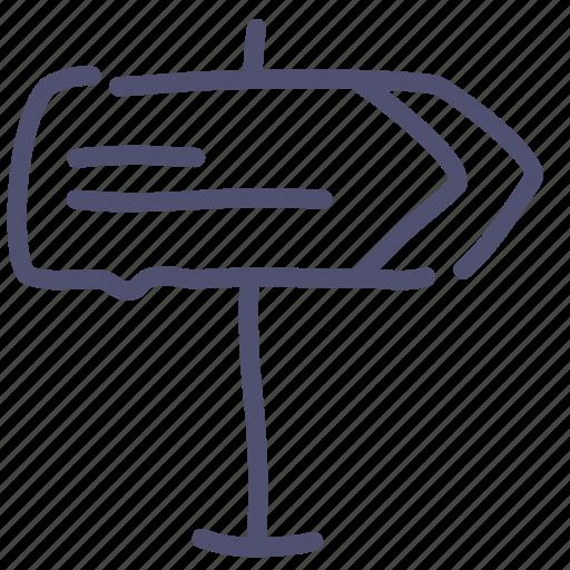 address, direction, sign icon