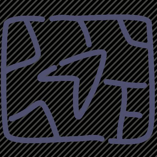 direction, gps, navigation icon