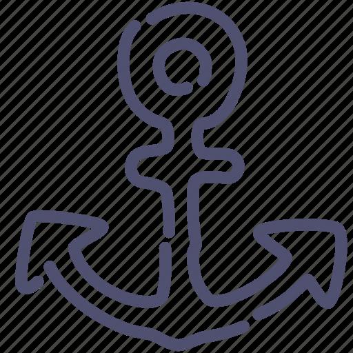 anchor, brake, marine icon