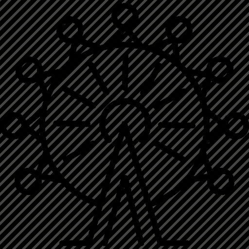 ferris, kingdom, united, wheel icon