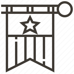 banner, flag, star icon