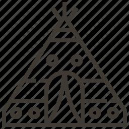 native american, teepee, tent, wigwam icon