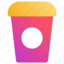 coffee, covered, disposable, paper cup