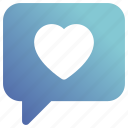 chat, heart, like, love, talk icon