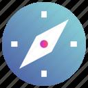 compass, navigation, navigational icon