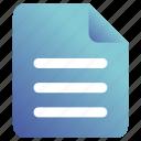 doc, document, file, paper icon