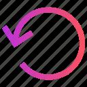 arrow, circle, history, refresh, reload
