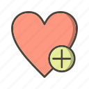 add, add to favorite, bookmark, favorite, heart icon