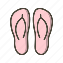 fashion, footwear, slipper, slippers icon
