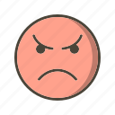 angry, emoji, face