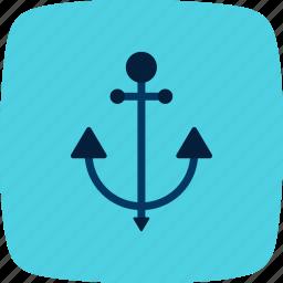 anchor, cruise, sea icon