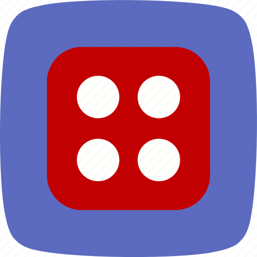 casino, dice, four icon