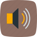 low, speaker, volume icon