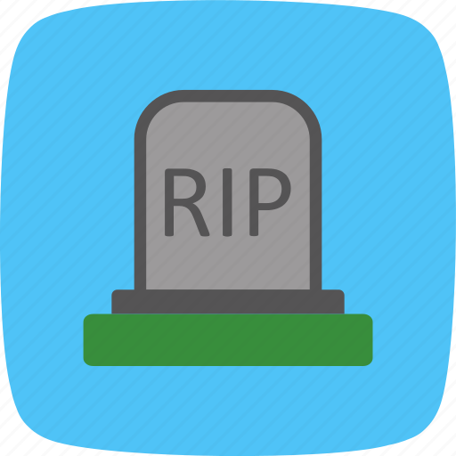 death, grave, halloween icon