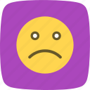 emoji, emoticon, emotion, sad icon