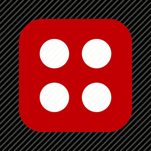 casino, dice, four icon
