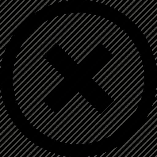 cannot, delete, remove, sign, stop, x icon
