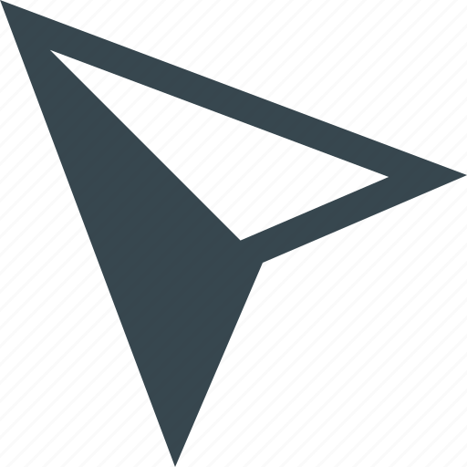 arrow, cursor, map, marker, mouse, navigation, pin icon