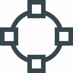 circle, creative, design, ellipse, line, round, tool icon