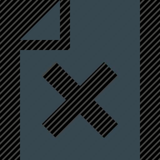 close, data, delete, document, file, page, paper icon