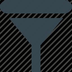convert, creative, design, equipment, filter, funnel, tool icon